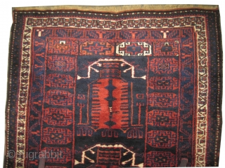 """Kalardash Persian circa 1930 with double prayer design, Size: 205 x 160 (cm) 6' 9"""" x 5' 3""""  carpet ID: K-3862 the knots are hand spun lamb wool, the two selvages are  ..."""