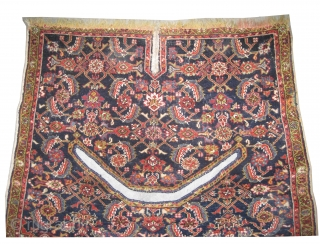"""Horse cover Farahan Persian circa 1890 antique. Collector's item. Size: 100 x 88 (cm) 3' 3"""" x 2' 11""""  carpet ID: K-4054 The horse cover is very fine knotted and, high pile,  ..."""