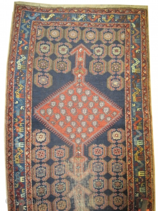 "Meshgin Persian circa 1910 antique. Collector's item, Size: 327 x 123 (cm) 10' 9"" x 4' 