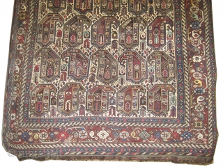 "Shiraz Khamse Persian circa 1910 antique. Collector's item, Size: 277 x 177 (cm) 9' 1"" x 5' 10""  carpet ID: K-5333