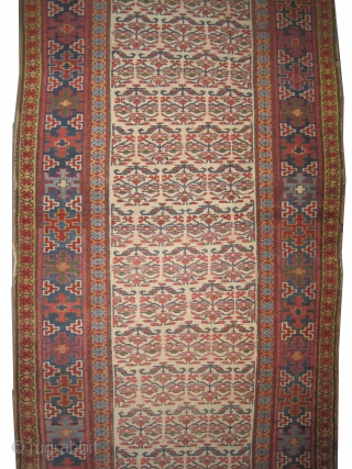 """Louristan Persian circa 1875 antique. Collector's item, Size: 440 x 99 (cm) 14' 5"""" x 3' 3""""  carpet ID: K-5803 the knots are hand spun wool, vegetable dyes, the warp and the  ..."""