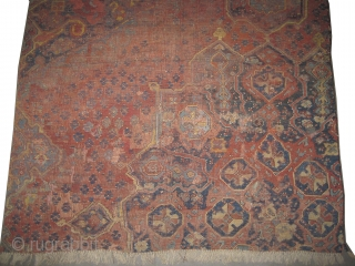 """Ushak Turkish. Fragment circa 18th century antique. collector's item. Size: 250 x 219 (cm) 8' 2"""" x 7' 2""""  carpet ID: P-5027  It is soft and high standard quality.   Private collection."""