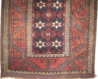 """Belutch Persian circa 1920 old.  Size: 322 x 84 (cm) 10' 7"""" x 2' 9""""   carpet ID: K-5084 The black color is oxidized, vegetable dyes, the knots are hand spun wool,  ..."""