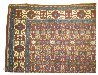 "Indian carpet, knotted circa in 1922, 427 x 296 (cm) 14'  x 9' 8""  carpet ID: P-1225