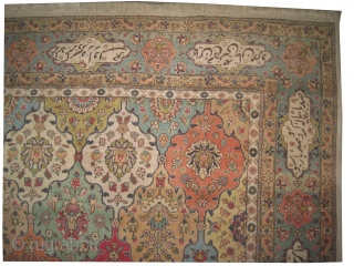 "Tabriz-Petak Persian old. Size: 375 x 261 (cm) 12' 4"" x 8' 7""  carpet ID: OZ-6