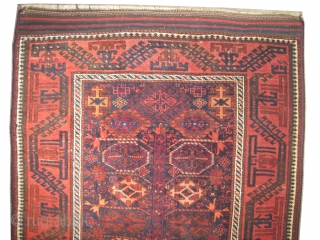 "Belutch Persian circa 1910 antique. Collector's item, Size: 161 x 94 (cm) 5' 3"" x 3' 1""  carpet ID: T-621