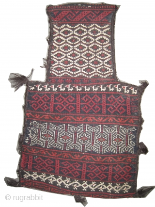 """Belutch Namakdar Persian circa 1915 antique salt bag, Collector's item, Size: 61 x 46 (cm) 2'  x 1' 6""""  carpet ID: A-1030 Woven with three different techniques and hand spun wool,  ..."""
