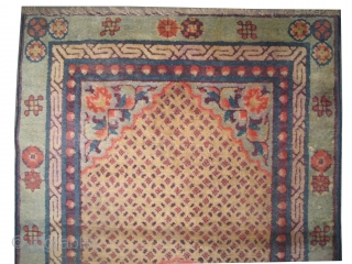 "Chinese rug antique. Collector's item. Size: 122 x 72 (cm) 4'  x 2' 4""  carpet ID: K-2295