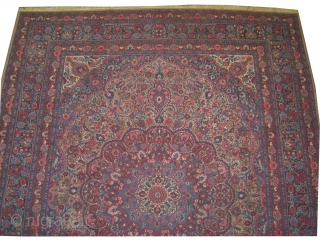 """Birjend Persian signed circa 1920 old. Size: 356 x 272 (cm) 11' 8"""" x 8' 11""""  carpet ID: P-6278 Certain places the pile is slightly short, very fine knotted and in its  ..."""