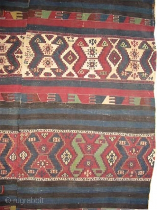 "Anatolian kilim circa 1870 antique. Collector's item, Size: 420 x 164 (cm) 13' 9"" x 5' 5""  carpet ID: A-1059
