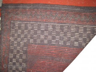 """Gabbeh Nomad Persian old, colllectors item,  142 x 92 (cm) 4' 8"""" x 3'  carpet ID: 64SF The knots are hand spun angora wool, rare design, in perfect condition."""