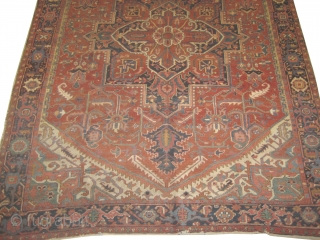 "Serapi Heriz circa 1910 antique. Size: 260 x 310 cm, 10'2"" x 8'6"" feet.  carpet ID: RD-2