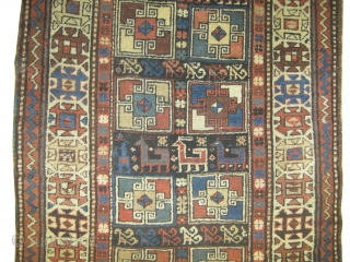 "Gendja Caucasian circa 1910 antique. Collector's item. Size: 300 x 103 (cm) 9' 10"" x 3' 5""  carpet ID: K-4093