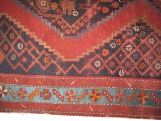 """Karabag Caucasian circa 1910 antique. Size: 257 x 147 (cm) 8' 5"""" x 4' 10""""  carpet ID: K-5680 The pile is slightly short, the red color is from the cochineal insect,  ..."""