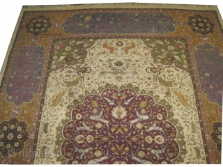 "Indian Amritsar circa 1920 Semi antique, Size: 450 x 355 (cm) 14' 9"" x 11' 8""  carpet ID: P-2167