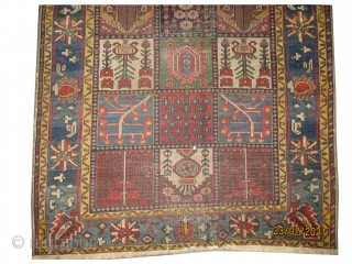 "Baktiar-Mejidiye Persian, knotted circa in 1905, antique, collector's item, 200 x 140 (cm) 6' 7"" x 4' 7""  carpet ID: K-3459