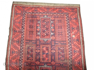 """Belutch  knotted circa in 1910 antique,  230 x 126 (cm) 7' 6"""" x 4' 2""""  carpet ID: K-4274 The black knots are oxidized. The knots, the warp and the  ..."""