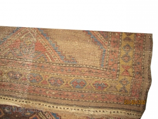 """Serap Persian knotted circa in 1895 antique, collector's item, 180 x 120 (cm) 5' 11"""" x 3' 11""""  carpet ID: K-3611 The background is knotted with camel hair, the black knots  ..."""