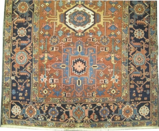 """Karadja Persian circa 1910 antique. Size: 200 x 137 (cm) 6' 7"""" x 4' 6""""  carpet ID: K-4366 Good condition, the pile of the background is slightly shorter than the rest, the  ..."""