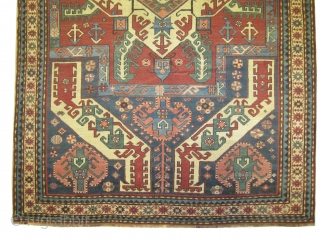 """Kasim Ushak Caucasian old. Collector's item. Size: 265 x 166 (cm) 8' 8"""" x 5' 5""""  carpet ID: V-58 Perfect condition, high pile, soft, high standard quality and in its original shape. More  ..."""