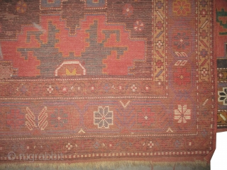 "Star Kazak Caucasian, knotted circa in 1870 antique, collector's item, 180 x 147 (cm) 5' 11"" x 4' 10""  carpet ID: K-4036