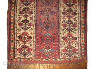 Beshir prayer Turkmen, knotted circa in 1790, antique, collectors item, 106 x 178cm,  carpet ID: NO-999 The knots, the warp and the weft threads are mixed with hand spun wool and goat  ...