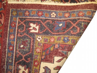 Heriz-Indo, old. LUZ-1, size: 205 x 297cm. Good condition, high pile and in its original shape.