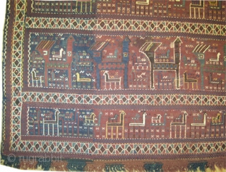 "Horse cover Vernneh kilim Caucasian, circa 1900 antique, collector's item, Size: 152 x 110 (cm) 5'  x 3' 7""  carpet ID: A-1276