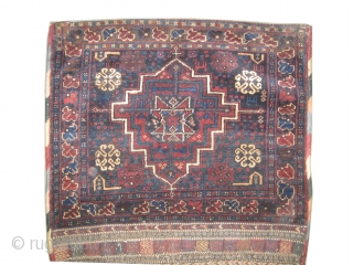 """Afshar khurjin Persian circa 1915 antique. Collector's item, Size: 142 x 69 (cm) 4' 8"""" x 2' 3""""  carpet ID: K-1597 High pile, perfect condition, the back side covered kelim is original,  ..."""