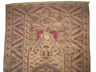 "Ghiordez-Keiz Turkish circa 1820 antique. Collector's item, Size: 180 x 112 (cm) 5' 11"" x 3' 8""  carpet ID: K-5796