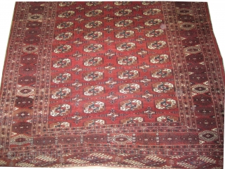 """Yemouth Turkmen circa 1925 Semi antique, Size: 350 x 222 (cm) 11' 6"""" x 7' 3""""  carpet ID: MMM-15 The edges are finished with 4 cm kilim, the knots are hand  ..."""