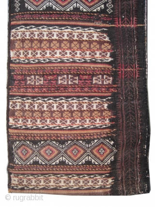 """Belutch Persian circa 1920 Semi antique. Collector's item, Size: 94 x 44 (cm) 3' 1"""" x 1' 5""""  carpet ID: UOE-12 The weft and the warp threads are hand spun wool mixed  ..."""