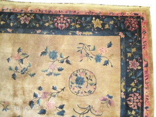 "Chinese carpet circa 1920 Semi antique, Size: 414 x 303 (cm) 13' 7"" x 9' 11""  carpet ID: P-3988