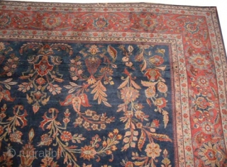 "Mouhajaran Sarouk Persian (American) circa 1915 antique. Size: 540 x 300 (cm) 17' 8"" x 9' 10""  carpet ID: P-5994 The knots are hand spun lamb wool and silky wool, the  ..."