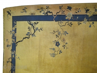 """Beijing Chinese Art Deco, circa 1930. Size: 350 x 284 (cm) 11' 6"""" x 9' 4""""  carpet ID: P-6133 High pile, good condition, soft and high standard quality, private collection."""