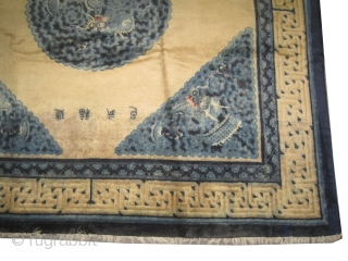 "Beijing Chinese carpet circa 1905 antique. Collector's item. Size: 261 x 248 (cm) 8' 7"" x 8' 2""  carpet ID: P-2709