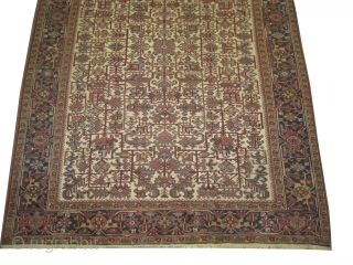 """Heriz Persian knotted circa in 1922  338 x 247 (cm) 11' 1"""" x 8' 1""""  carpet ID: P-3457 The black knots are oxidized, the knots are hand spun wool, all over  ..."""