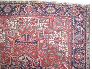 """Serapi Heriz Persian knotted circa in 1905 antique, collector's item, 319 x 240 (cm) 10' 6"""" x 7' 10""""  carpet ID: P-2433 The knots are hand spun lamb wool, the black knots  ..."""