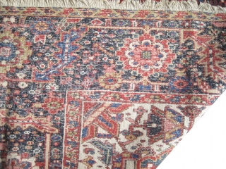 """Serapi Heriz Persian knotted circa in 1895 antique, collector's item, 349 x 247 (cm) 11' 5"""" x 8' 1""""  carpet ID: P-1965 The knots are hand spun wool, the black knots are  ..."""