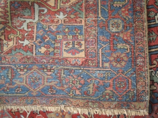 """Serapi Heriz Persian knotted circa in 1906 antique, collector's item, 344 x 250 (cm) 11' 3"""" x 8' 2""""  carpet ID: P-2399 The black knots are oxidized, the knots are hand spun  ..."""
