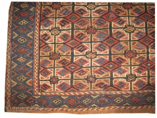 """Namakdar Soumak Caucasian 1890, antique, CarpetID: A-752. Size: 67 x 55 (cm) 2' 2"""" x 1' 10"""" feet.  Collector's item, vegetable dyes, hand spun wool, woven with two different technique flat and  ..."""