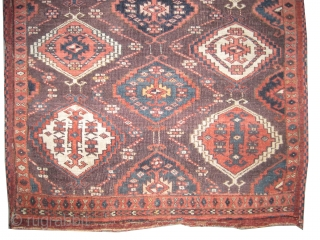 """Fragment Tschaudor Turkmen antique,  CarpetID: K-4089.  Size: 80 x 77 (cm) 2' 7"""" x 2' 6"""" feet. Collector's item. The warp and the weft threads are 100% wool, the knots are hand  ..."""