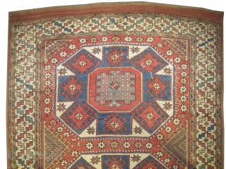 """Bergama Anatolian antique, Collector's item, as size: 186 x 146 (cm) 6' 1"""" x 4' 9"""" feet, CarpetID: K-4679. Vegetable dyes, the black color is oxidized, the knots are hand spun wool, the  ..."""