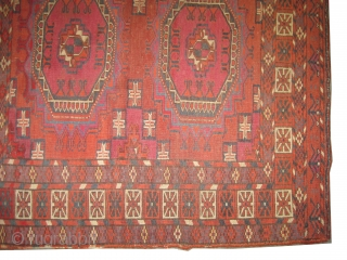 "Tekke Tchwal Turkmen antique, 1870. Collectors item. CarpetID: K-5612. Size: 128 x 79 (cm) 4' 2"" x 2' 7"" feet.
