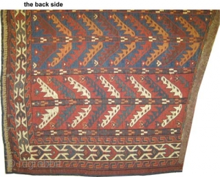 "Yemouth Osmalduk, antique, 1870. CarpetID: K-1308. Size: 124 x 75 (cm) 4' 1"" x 2' 6"" feet.
