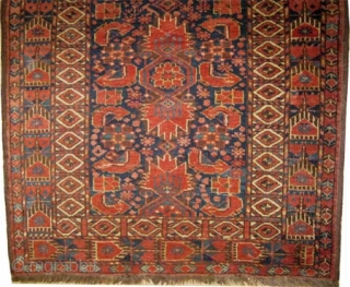"Beshir Turkmen antique, Collector's item. CarpetID: K-3028. Size: 126 x 98 (cm) 4' 2"" x 3' 3"" feet.