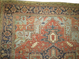 """Serapi Heriz Persian knotted circa in 1905 antique, Size: 334 x 236 (cm) 10' 11"""" x 7' 9""""  carpet ID: P-2512 Fine knotted in good condition, elegant and in its original shape."""