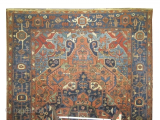 "Serapi Heriz Persian knotted circa in 1905 antique. Size: 328 x 222 (cm) 10' 9"" x 7' 3"" 