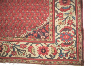 """Malaier Persian  antique,  354 x 168 (cm) 11' 7"""" x 5' 6""""  carpet ID: P-5117 The black knots are oxidized, the knots are hand spun wool, allover Mirabotha design, the  ..."""