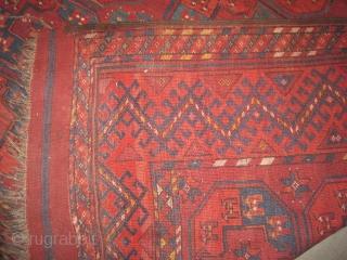 "Turkmen Ersari circa 1890. Antique, collector's item. Size: 311 x 221 (cm) 10' 2"" x 7' 3"" feet, carpet ID: RG-1 The knots are hand spun wool, the warp and the weft threads  ..."
